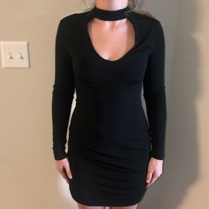 Black Fitted Express Dress